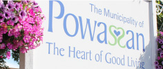 The Municipality of Powassan sign