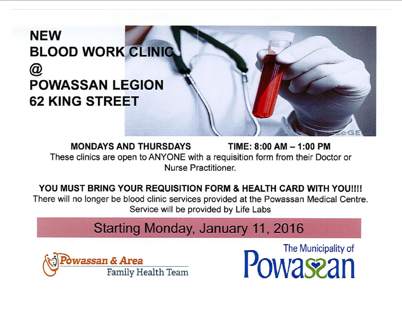 New Blood Clinics At Legion Branch 453